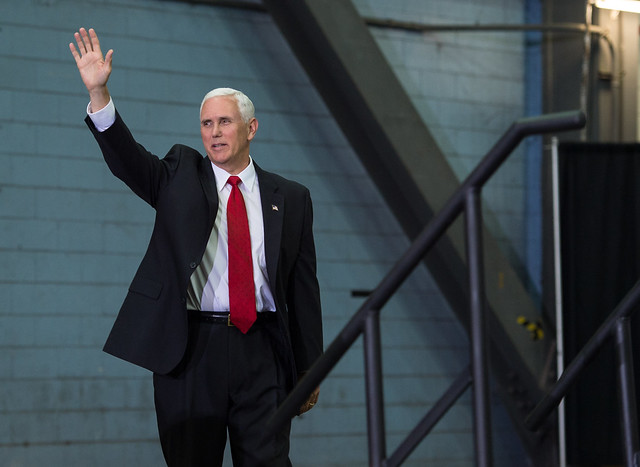 Mike Pence visits Kennedy Space Center ( NASA HQ PHOTO )