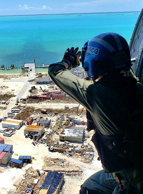 Rescue efforts in the Bahamas ( Coast Guard News )