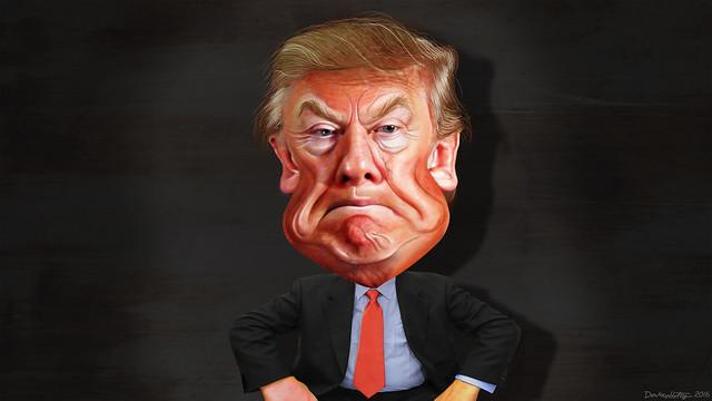 Donad Trump - Caricature ( DonkeyHotey )