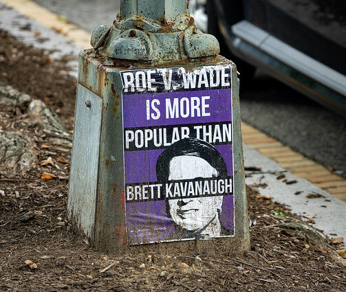 Poster in Washington DC during the Kavanaugh confirmation process ( John Brighenti )