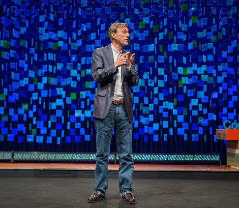 Thom Hartmann giving a TED Talk in Portland, Oregon ( TedXMtHood )
