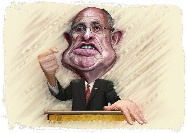 Rudy Guiliani- Caricature Painting ( DonkeyHotey )