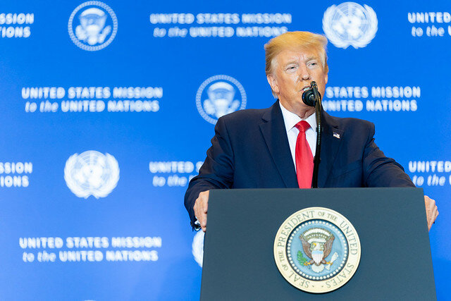 Donald Trump addresses remarks and answers reports Sept. 25, 2019 ( The White House )