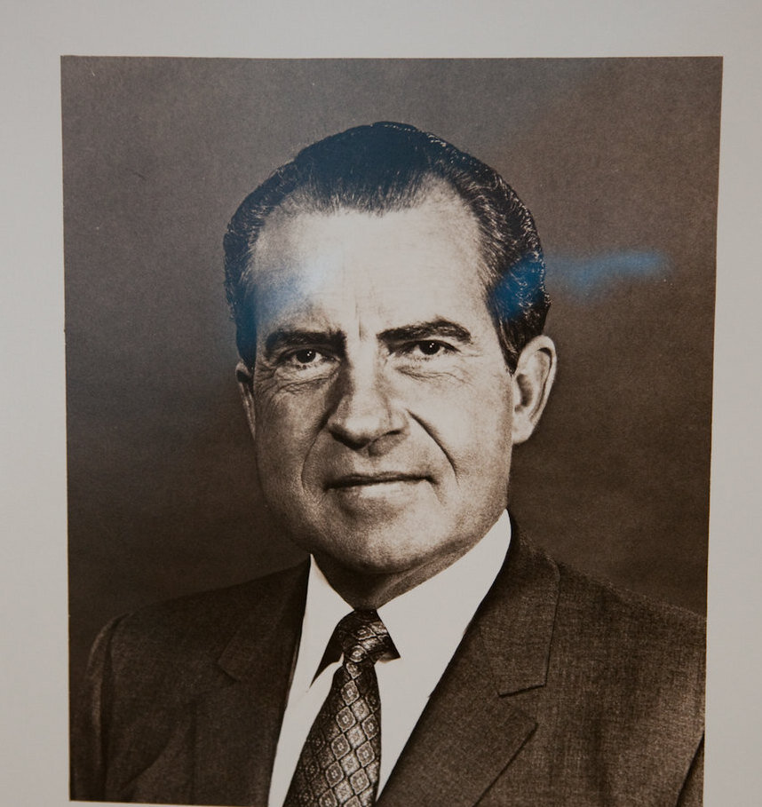 Richard Nixon was compelled to resign over an 18 and 1/2 Minute gap in a recorded conversation with Robert Haldeman about Watergate. Trump is also engaged in an extensive cover-up. ( Scott Beale )