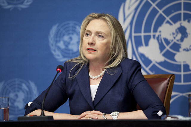 Hillary Clinton when she was secretary of state ( United States Mission Geneva )