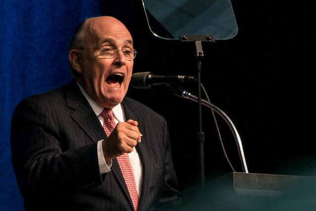 Former New York City Mayor Rudy Giuliani ( Iowa Public Radio Images )