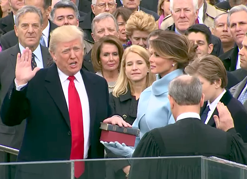 Donald Trump is sworn in as the 45th president of the United States ( White House )