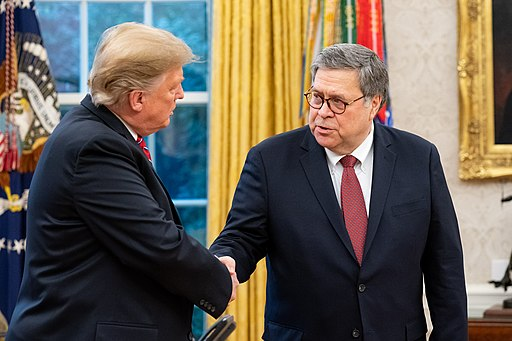 President Donald Trump and Attorney General William Barr ( The United States Department of Justice )