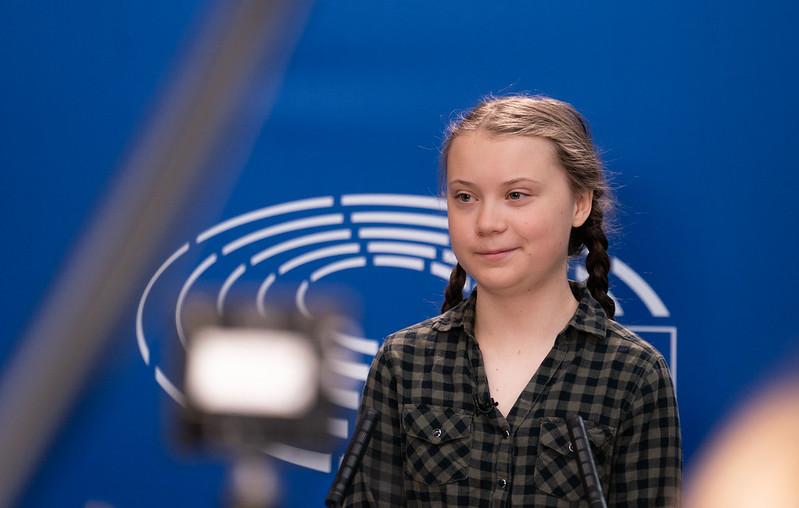 Greta Thunberg at the Parliament ( European Parliament )