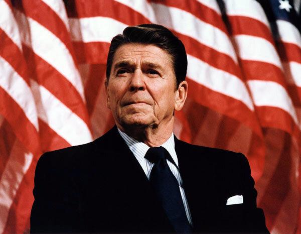 President Reagan speaking at a rally for Senator Durenberger ( Marion Doss )