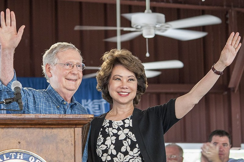 Elaine Chao & Mitch McConnell ( forbidden book network )