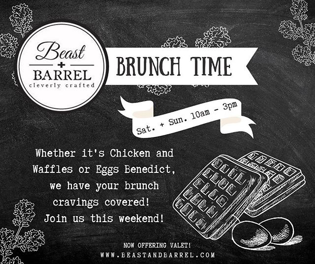 """""""Ma ma se, Ma ma sa, Ma mimosa.""""⠀ Join us Saturday or Sunday from 10am - 3pm for a brunch that will rock your weekend!⠀ -⠀ #BeastandBarrel #Brunching #lunch #breakfast #brunch #foodpic #yum #hungry #tasty #eating #eggs  #sunday #sundaybrunch #brunchtime #mimosa #coffee #friends #brunchparty #brunchgoals #brunchy #brunchlover #brunchsohard #brunchvibes #brunchsquad #bottomlessmimosas #sundayfunday #weekend #food"""