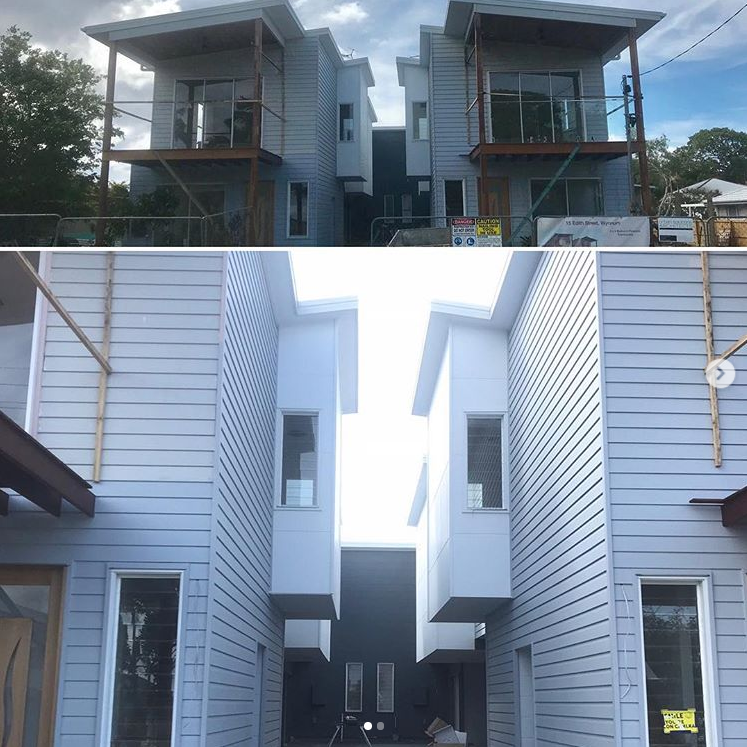 Painted in & out of this new build of 6 x double storey townhouses - 3 bedrooms, 1.5 bath.