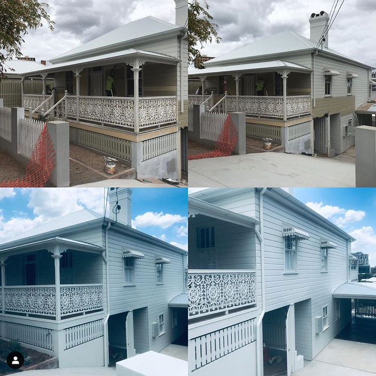 Full repaint for this Queenslander ... came up a treat!