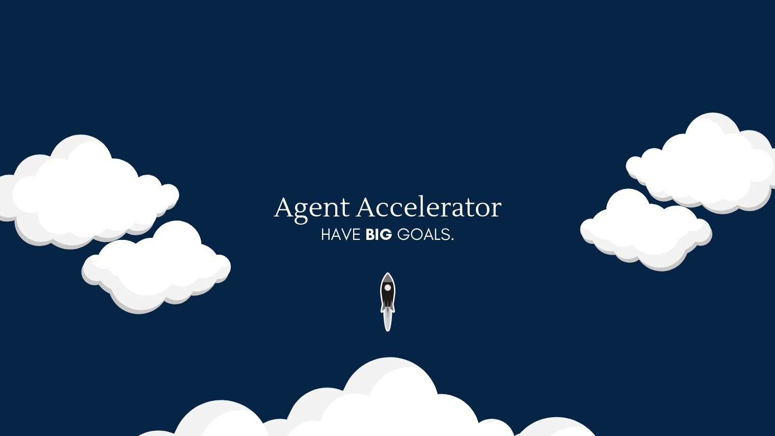 AGENT ACCELERATOR    For agents wanting to turn their business into a predictable revenue generator.   Agent Accelerator transforms agents businesses into efficient & predictable revenue generators by balancing traditional and modern sales techniques.