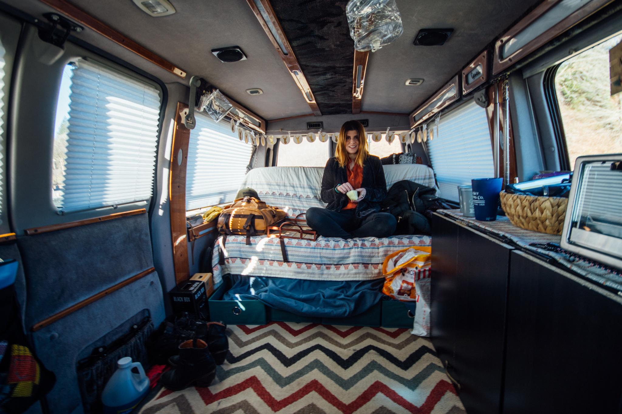 1997 Chevy Express Geneva Conversion Van camper interior