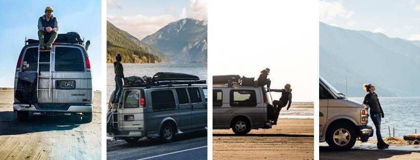 1997 Chevy Express Camper Van Collage