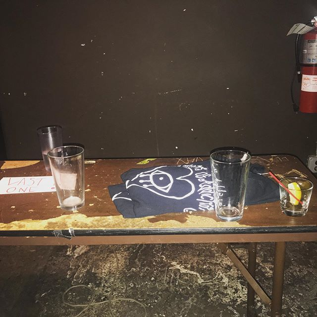 Epic merch table last night #rigsofshit #merchtablesofshit #killingit