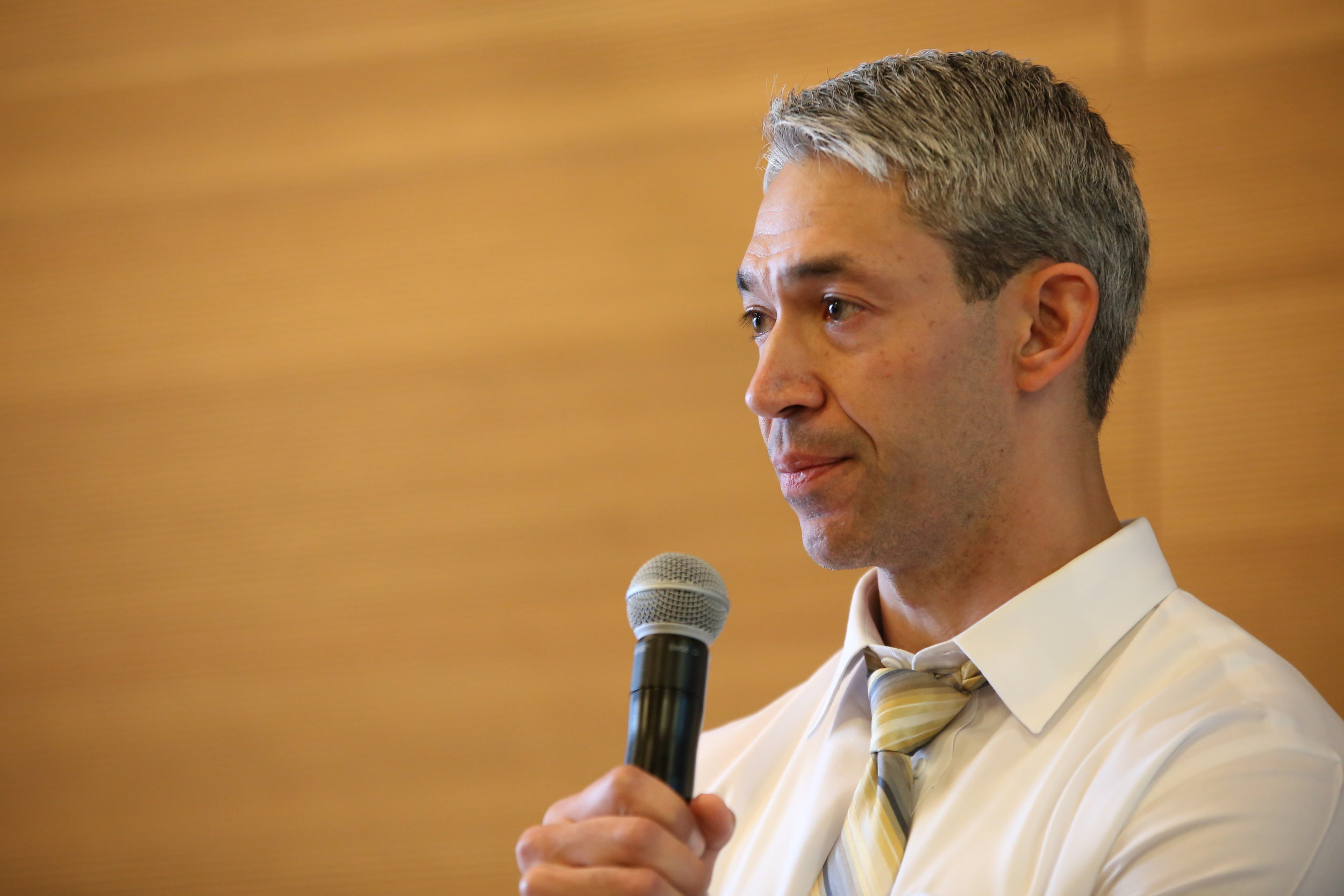 Mayor Ron Nirenberg addresses the crowd. (Photo Credit:  GA Media Productions )