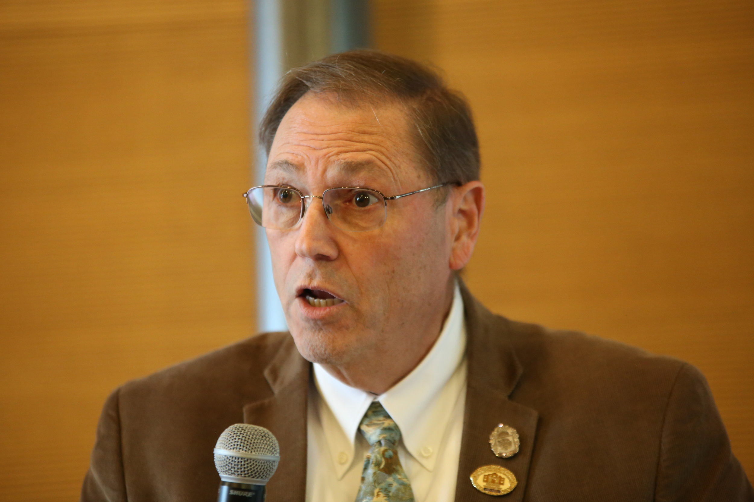 Councilman John Courage talks about the Chick-Fil-A Issue. (Photo Credit:  GA Media )