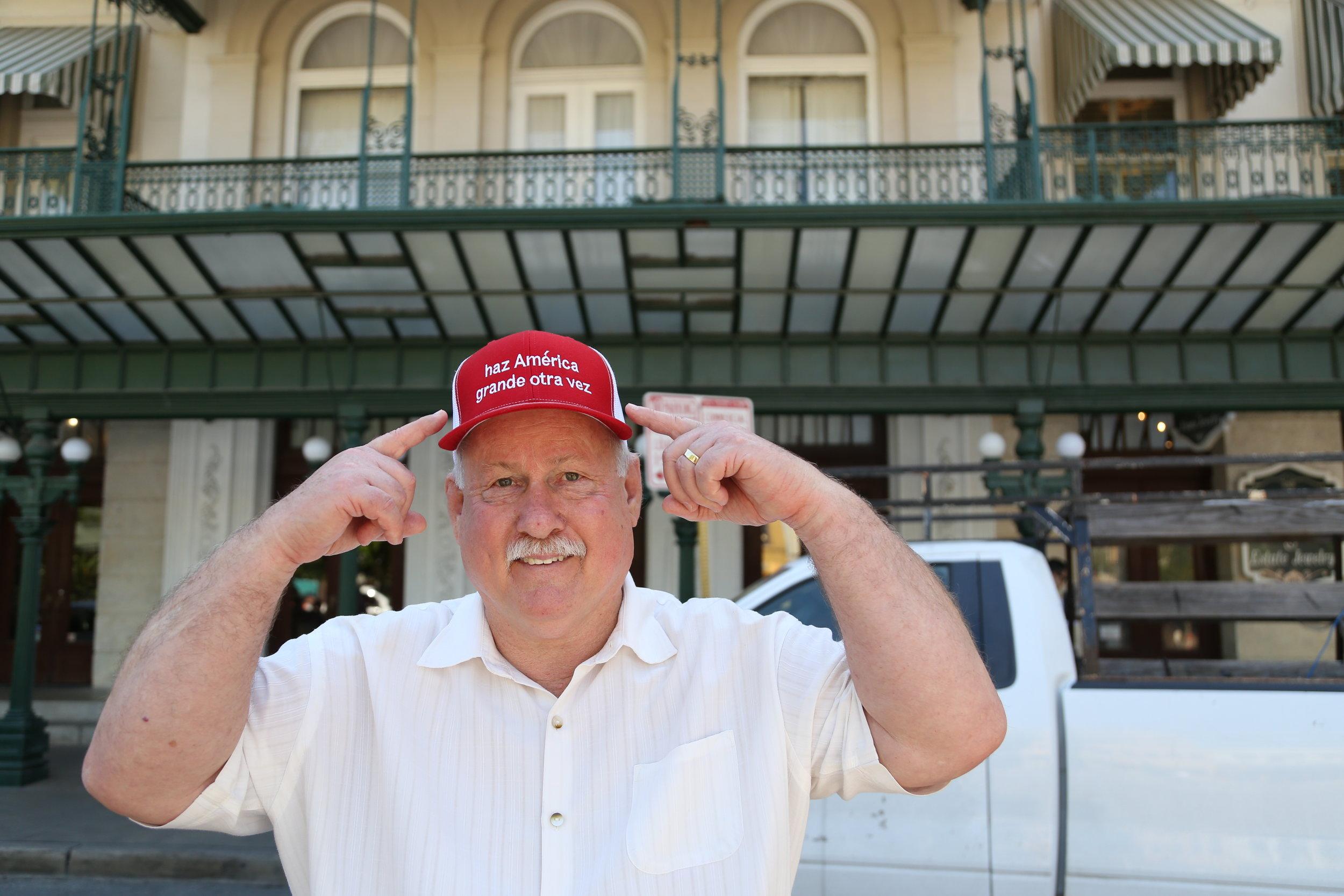 A.D. Smoot wearing his Spanish MAGA hat. (Photo Credit:  GA Media Productions )