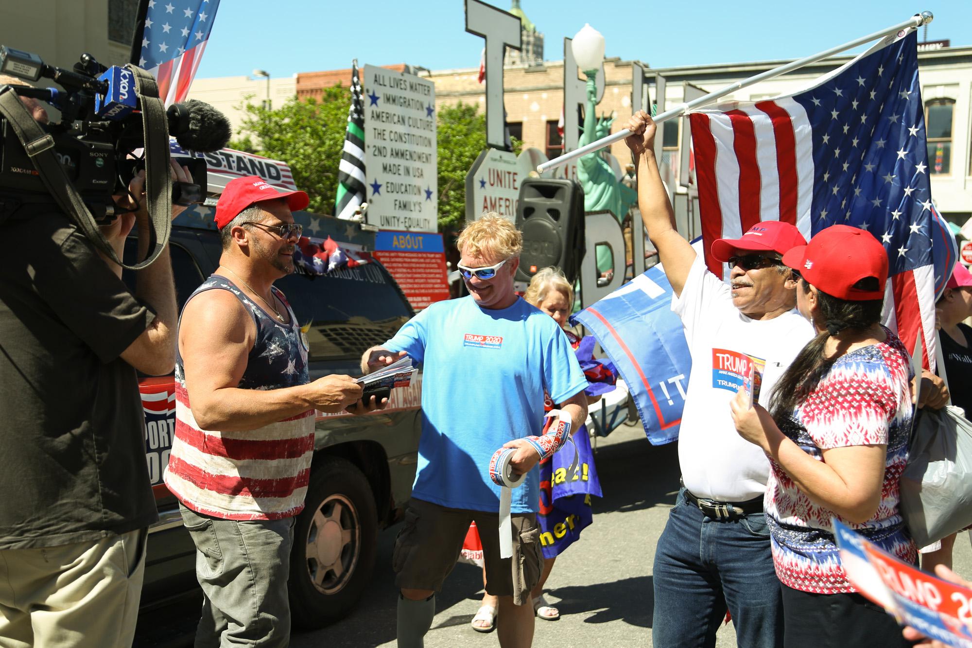 "Trump supporters gather around ""Unity Bridge."" (Photo Credit:  GA Media Productions )"
