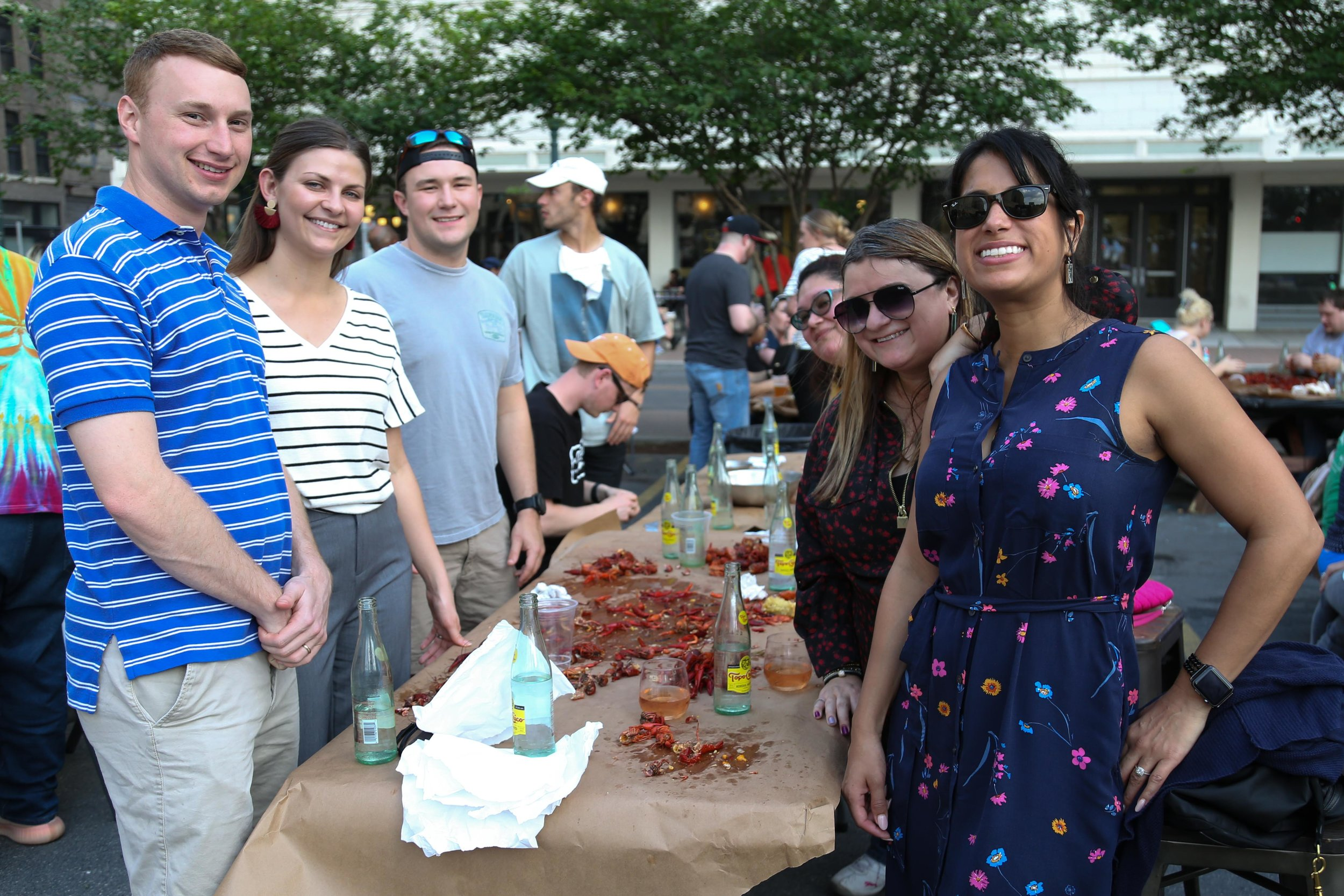 The crawfish boil was a hit among attendees. (Photos by:  GA Media Media Productions .)