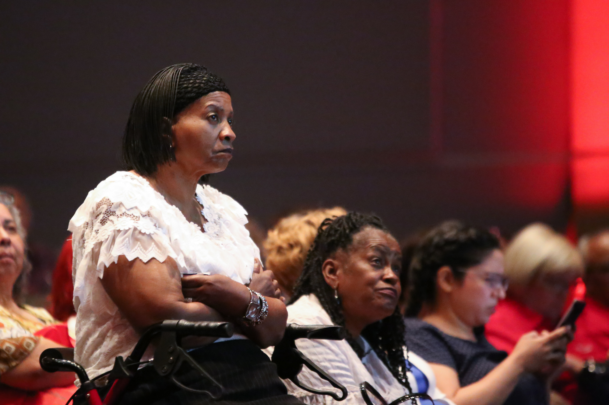 Community members listen intently during the AARP Debate. (Photo Credit:  GA Media Productions )