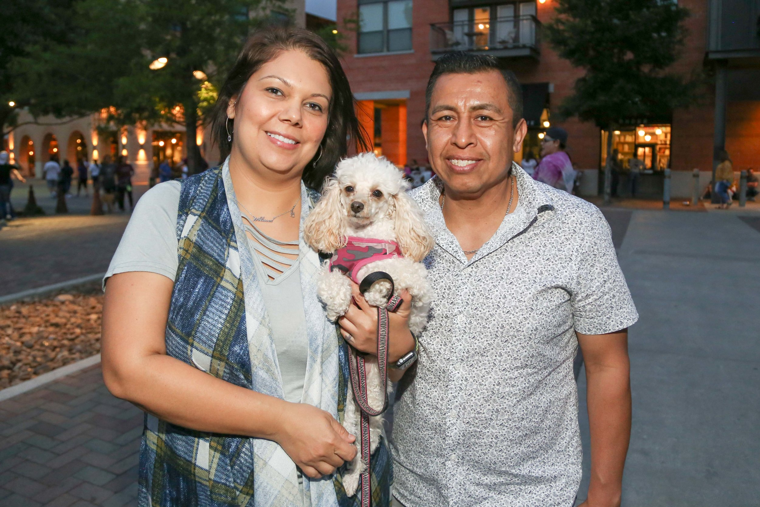 Connie Ramos with Francisco Marino and their poodle, Lola. (Photo by:  GA Media Media Productions .)