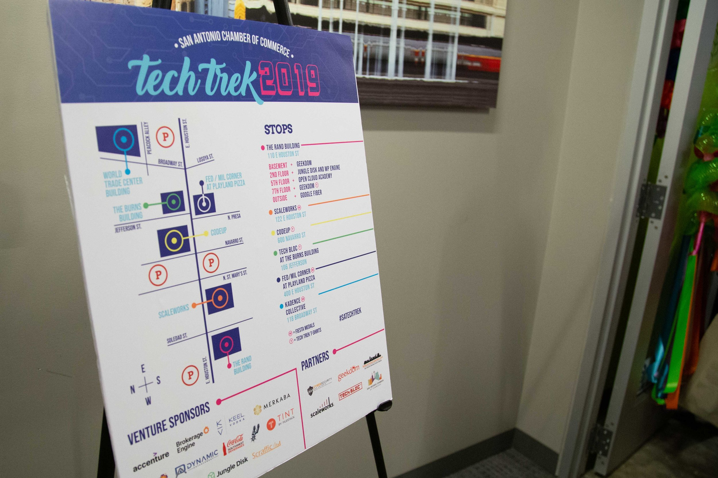 A Tech Trek map helps visitors find their way around. (Photo by  GA Media Productions .)