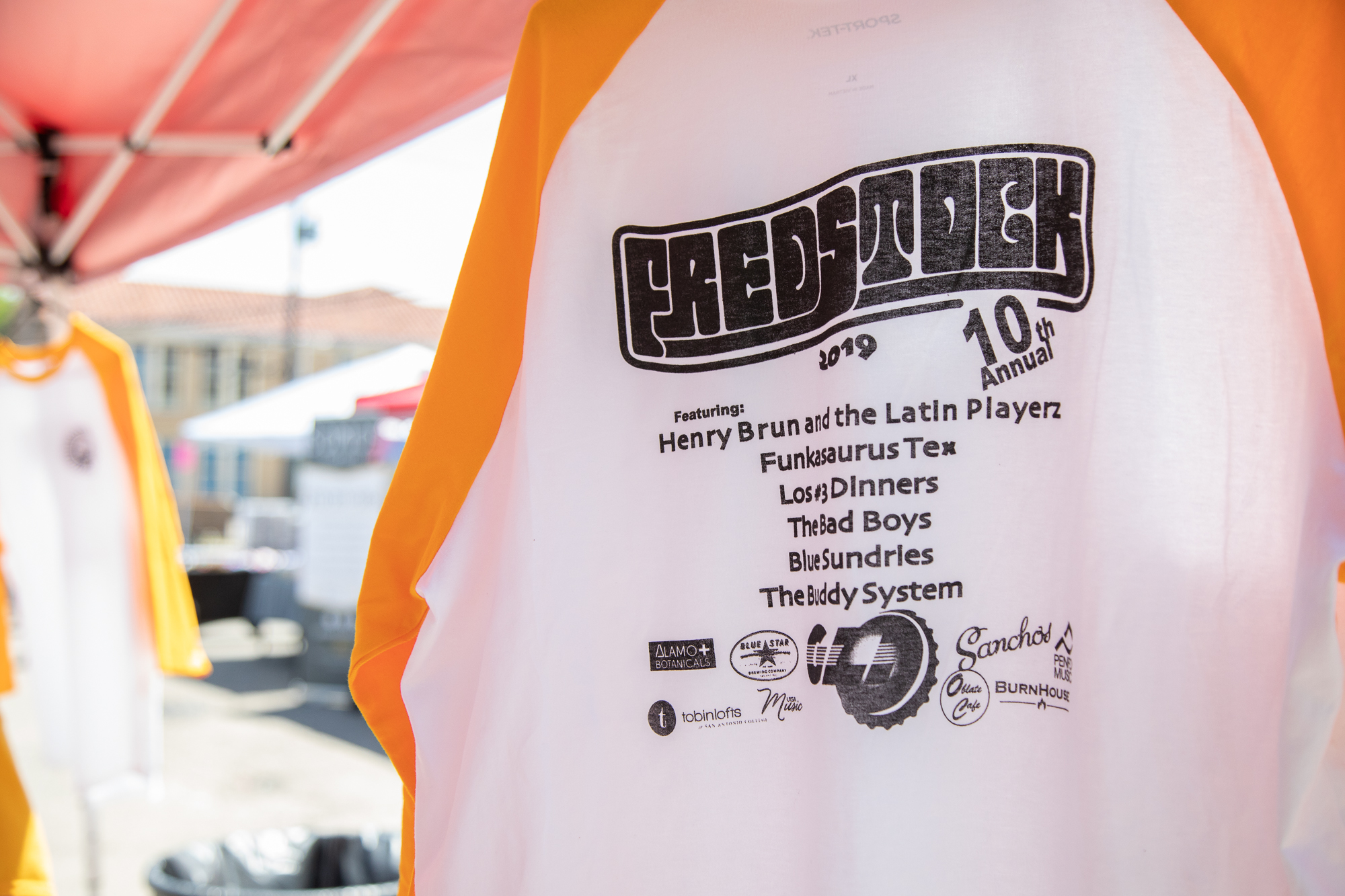 FredStock t-shirt for sale. (Photo by:  Joel Pena  - Contributing Writer, SA Sentinel)