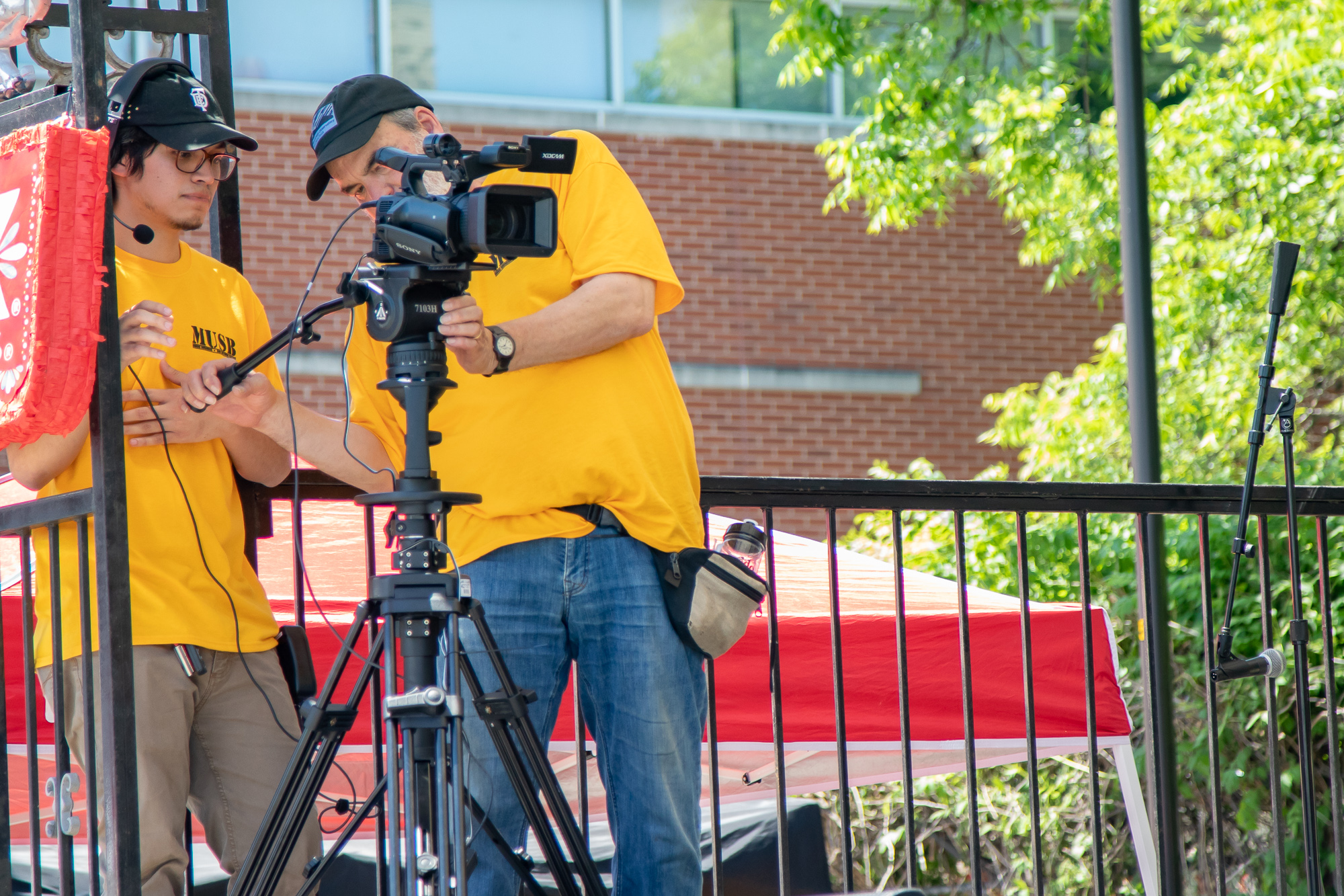 Broadcast students working at FredStock. (Photo by:  Joel Pena  - Contributing Writer, SA Sentinel)