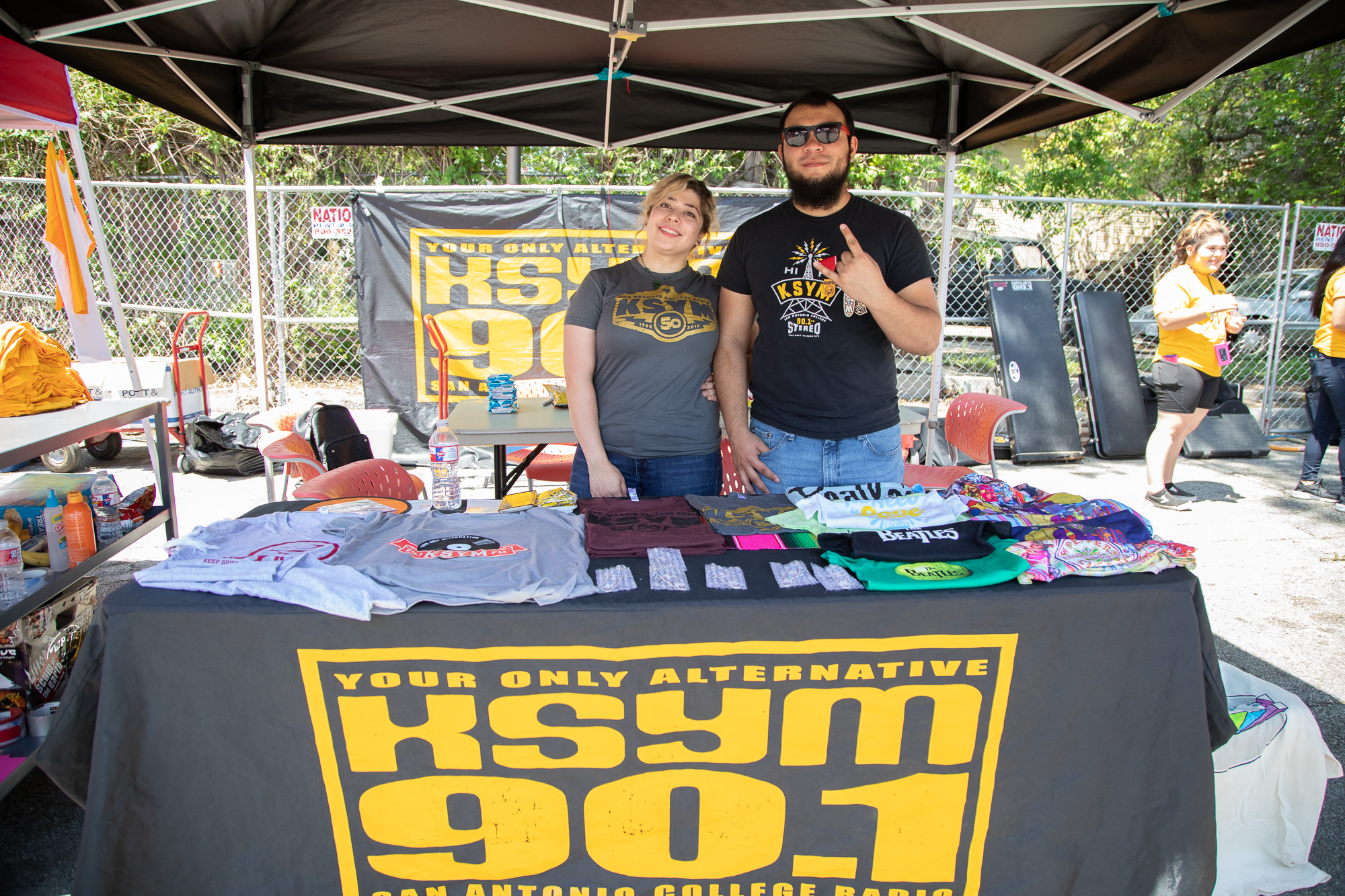 KSYM booth at FredStock. (Photo by:  Joel Pena  - Contributing Writer, SA Sentinel)