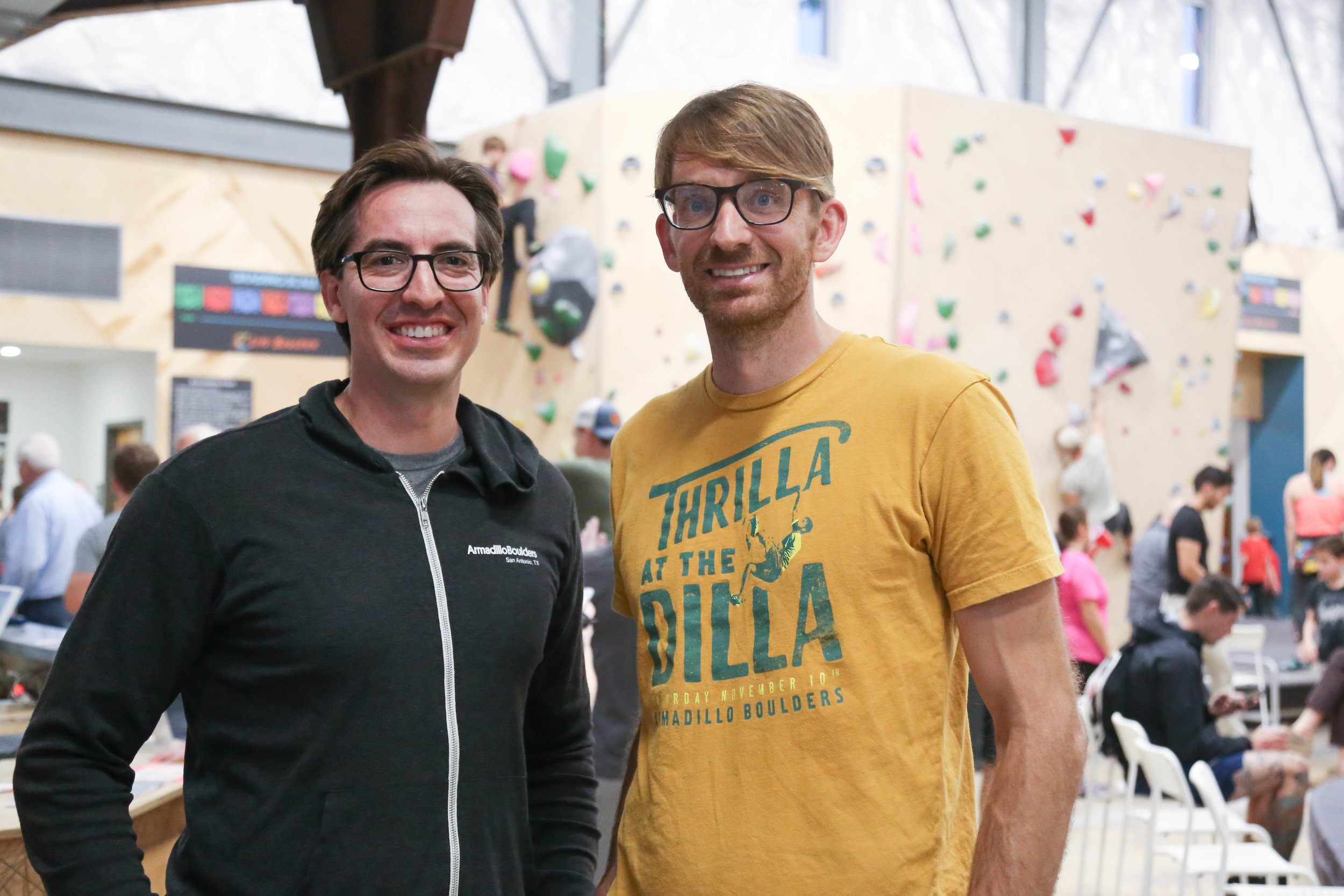 Michael Cano and Joe Kreidel, Co-Owners of Armadillo Boulders. (Photo by  Jonathan Guajardo )