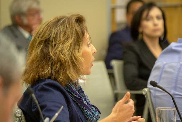 Councilwoman Shirley Gonzales speaks at the B-Session. (Photo by  William Timmerman  - Photographer, SA Sentinel)