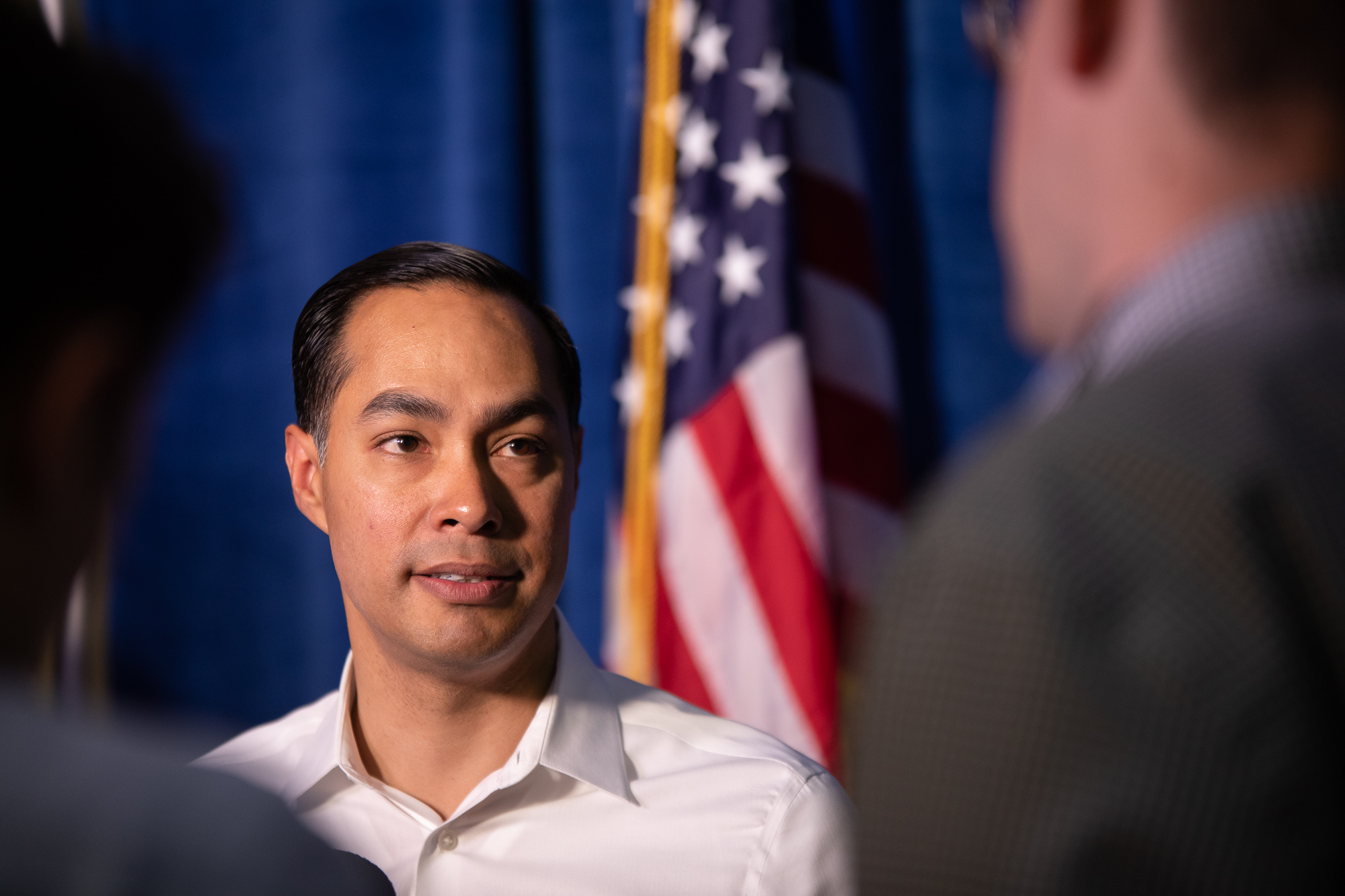 Julián Castro after an April 10, 2019 presidential rally. (Photo by  Joel Pena  - SA Sentinel Photographer)