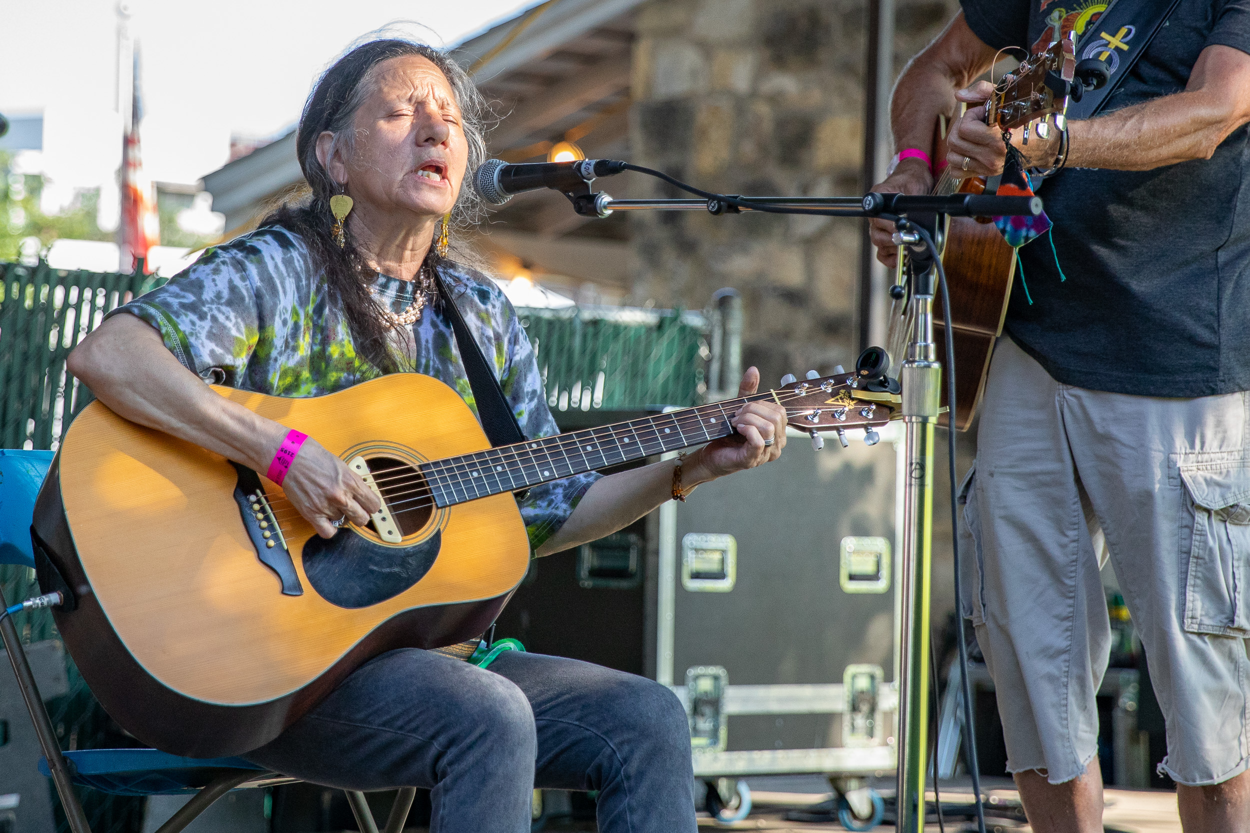 Del La Vega entertains the crowd at the Folklife Festival. (Photo by  Joel Pena  - Photographer, SA Sentinel)
