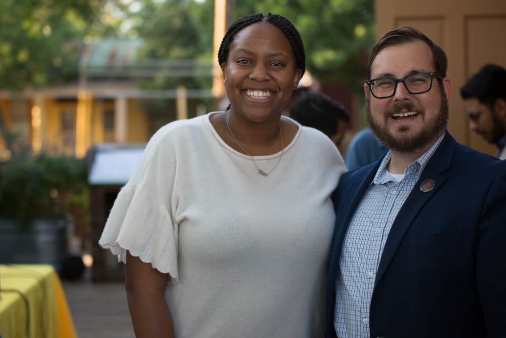 Raven Douglas, Deputy Director of MOVE Texas (Left) and H. Drew Galloway, Executive Director of MOVE Texas (Right). (Photo by  B Kay Richter  - Photographer, SA Sentinel)