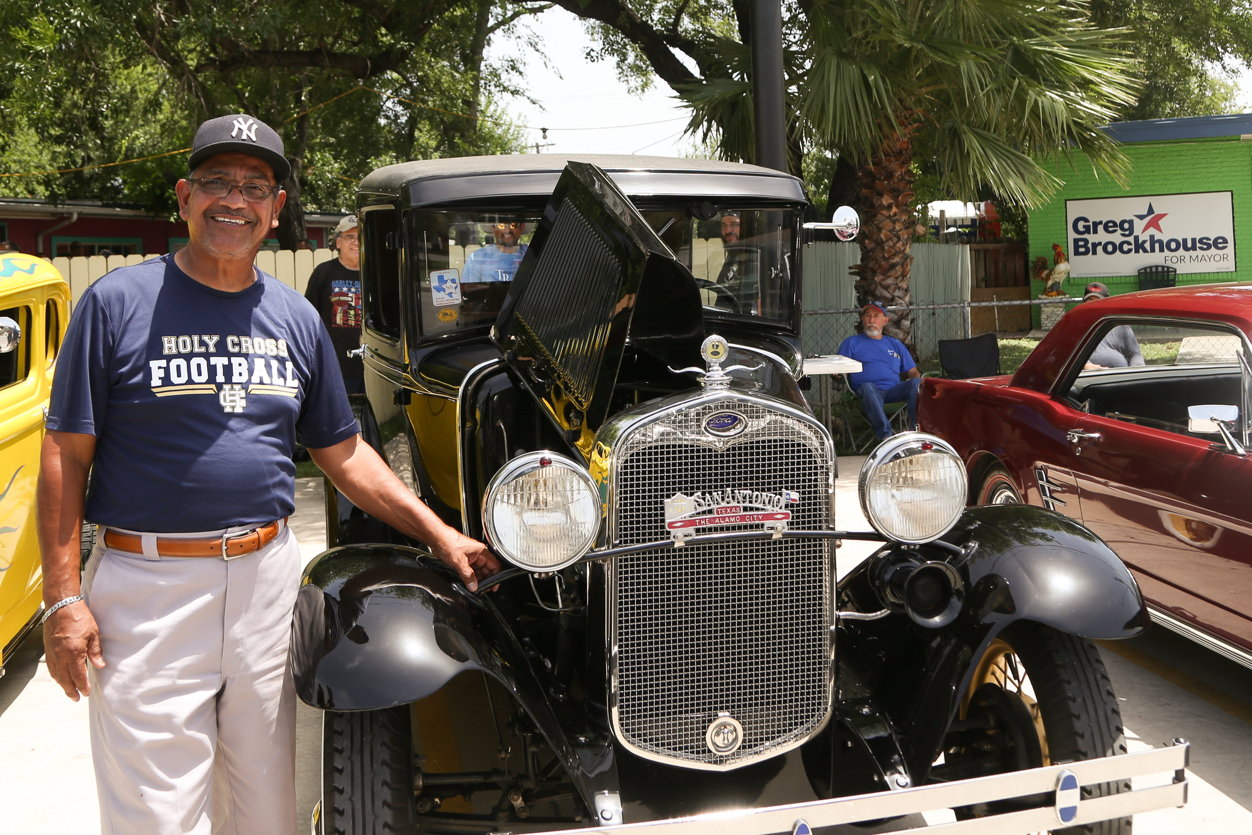 Rudy Blanco stands next to his prized Model A. (Photo by  Jonathan Guajardo )