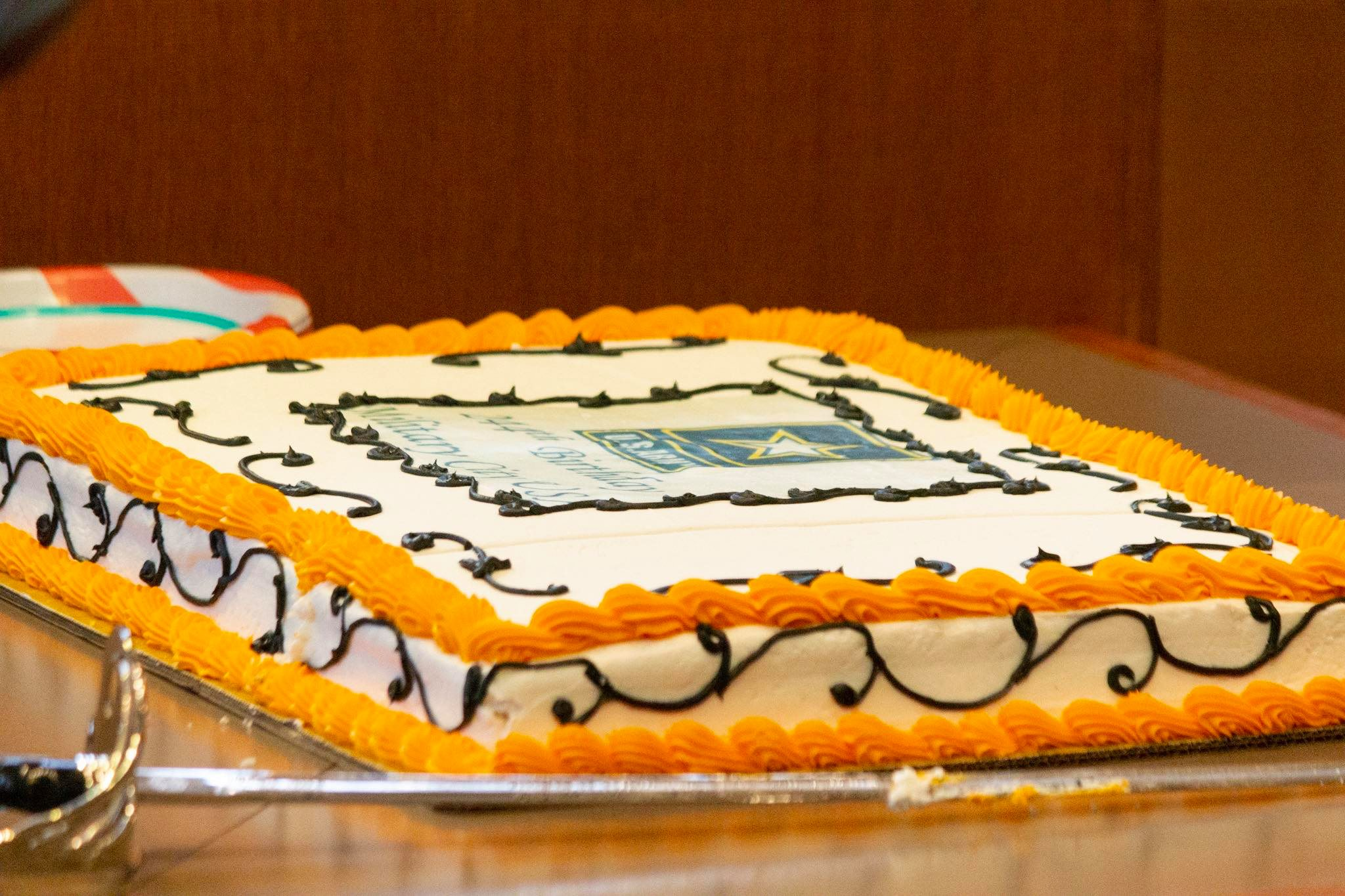The U.S. Army cake at the ceremony. (Photo by  William Timmerman .)