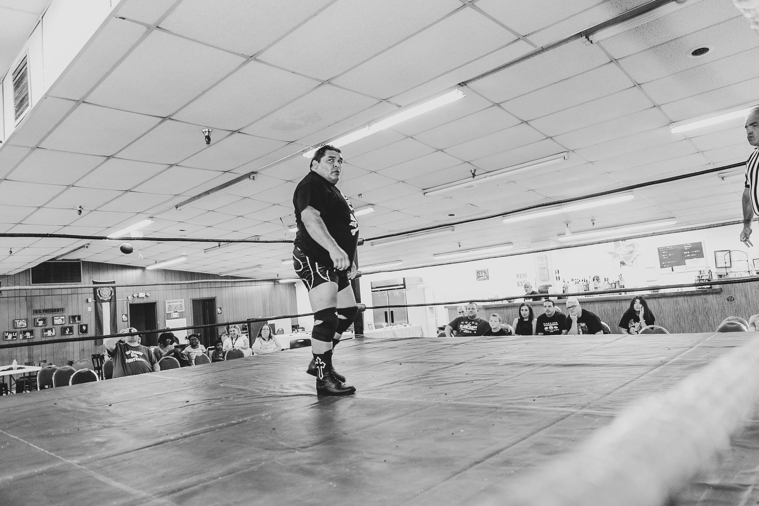 Rudy Boy Gonzalez roams the ring on Sunday. (Photo by  Luis Vazquez )