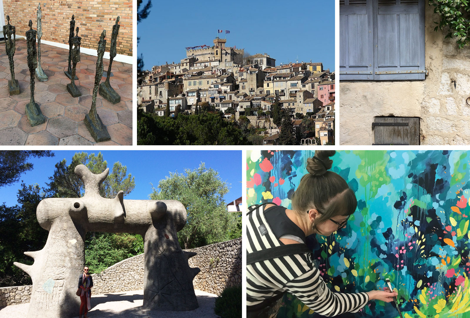 Some views of our Retreat destinations on the French Riviera 2018