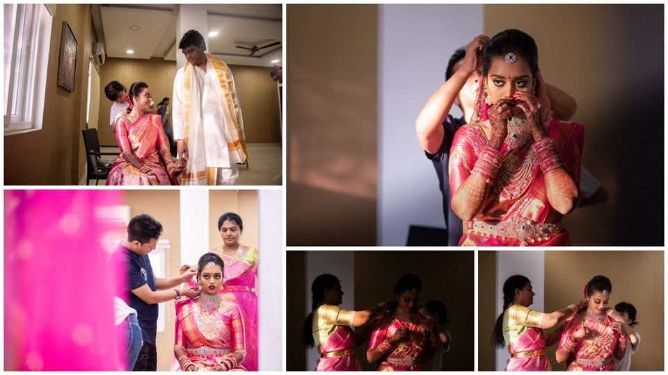 Priya getting ready for the big day..