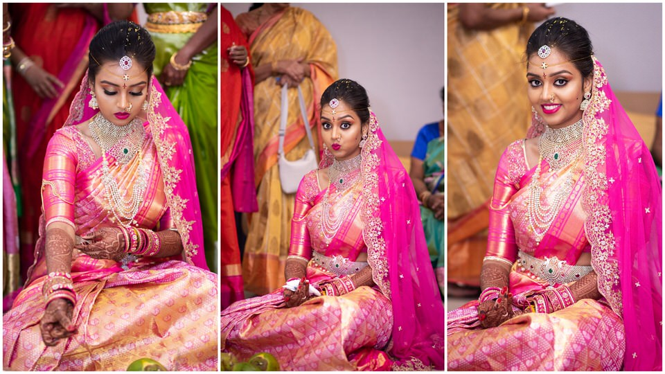 Expressions of beautiful bride!