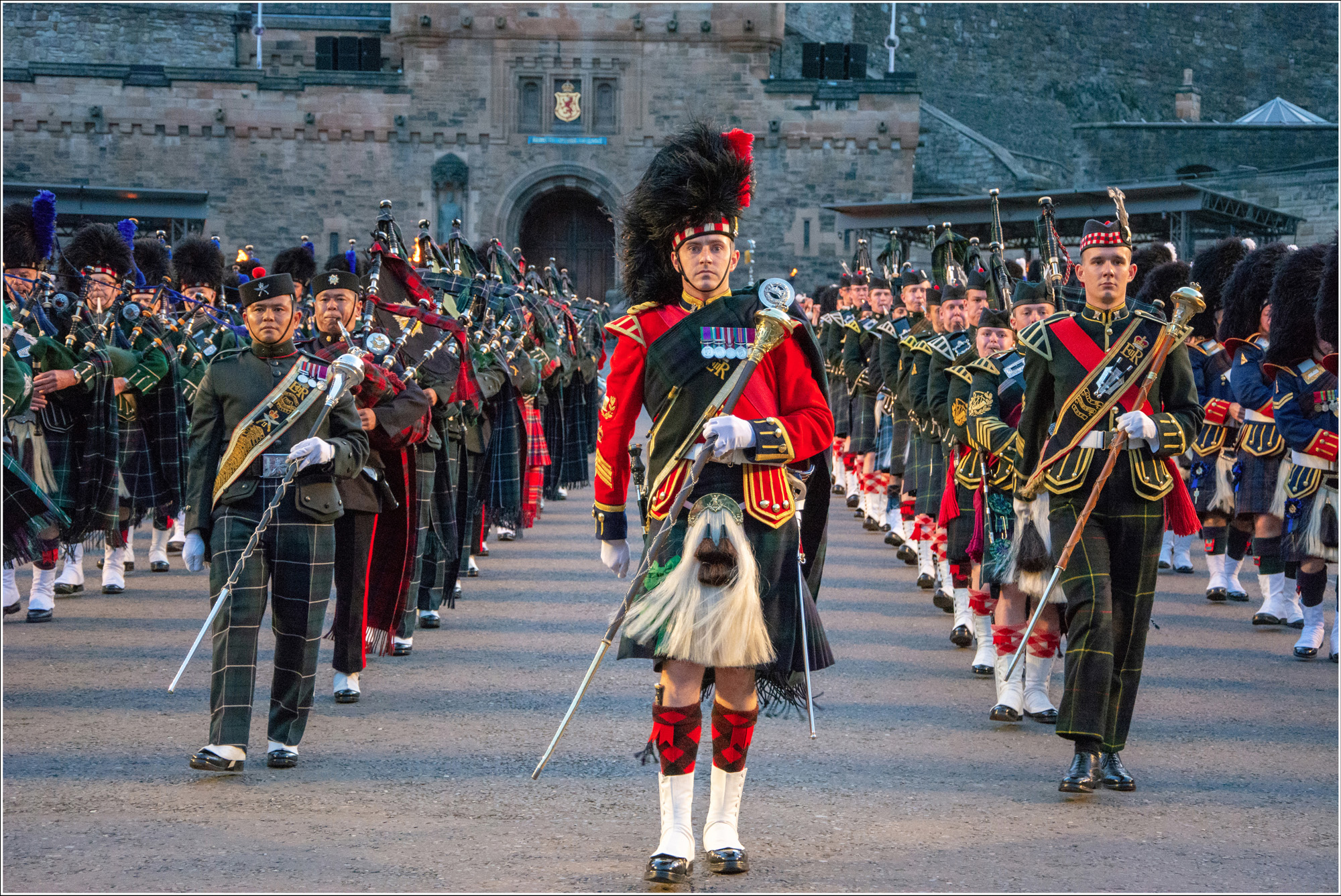 The Massed Band Pipers