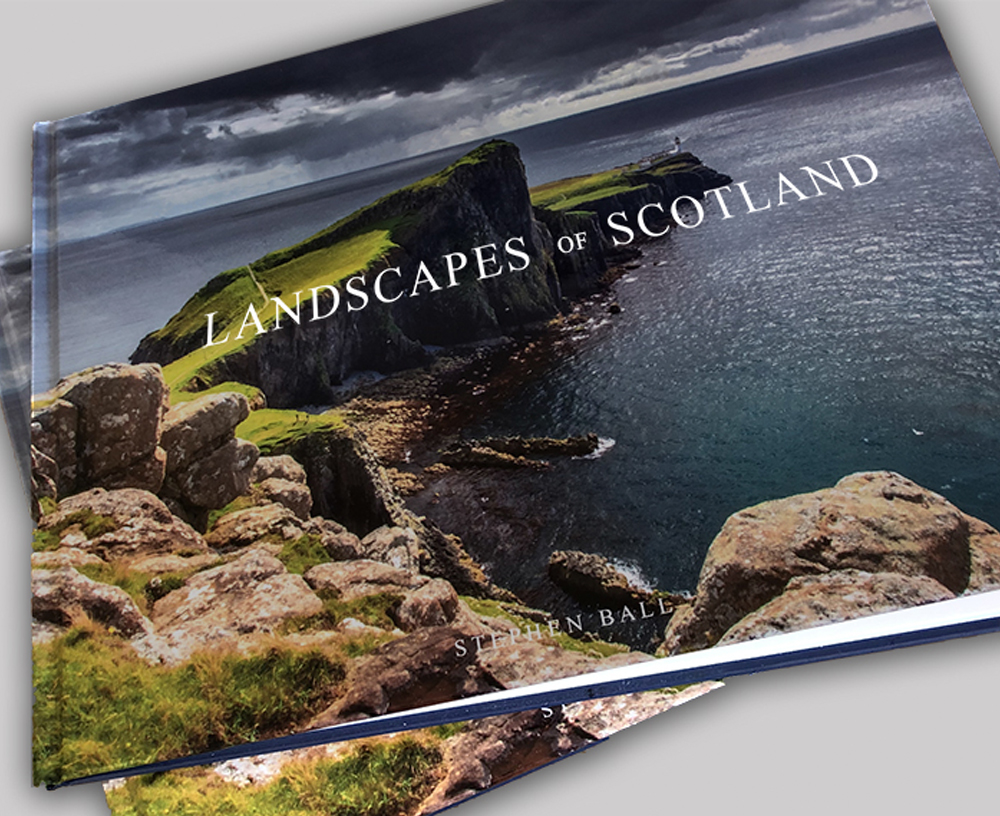 PHOTO BOOK - Landscapes of Scotland - The latest publication from Stephen Ball Photography, showcasing over 40 full page photographs of Scotland's landscape, presented in a coffee table style hardback book.£22.99