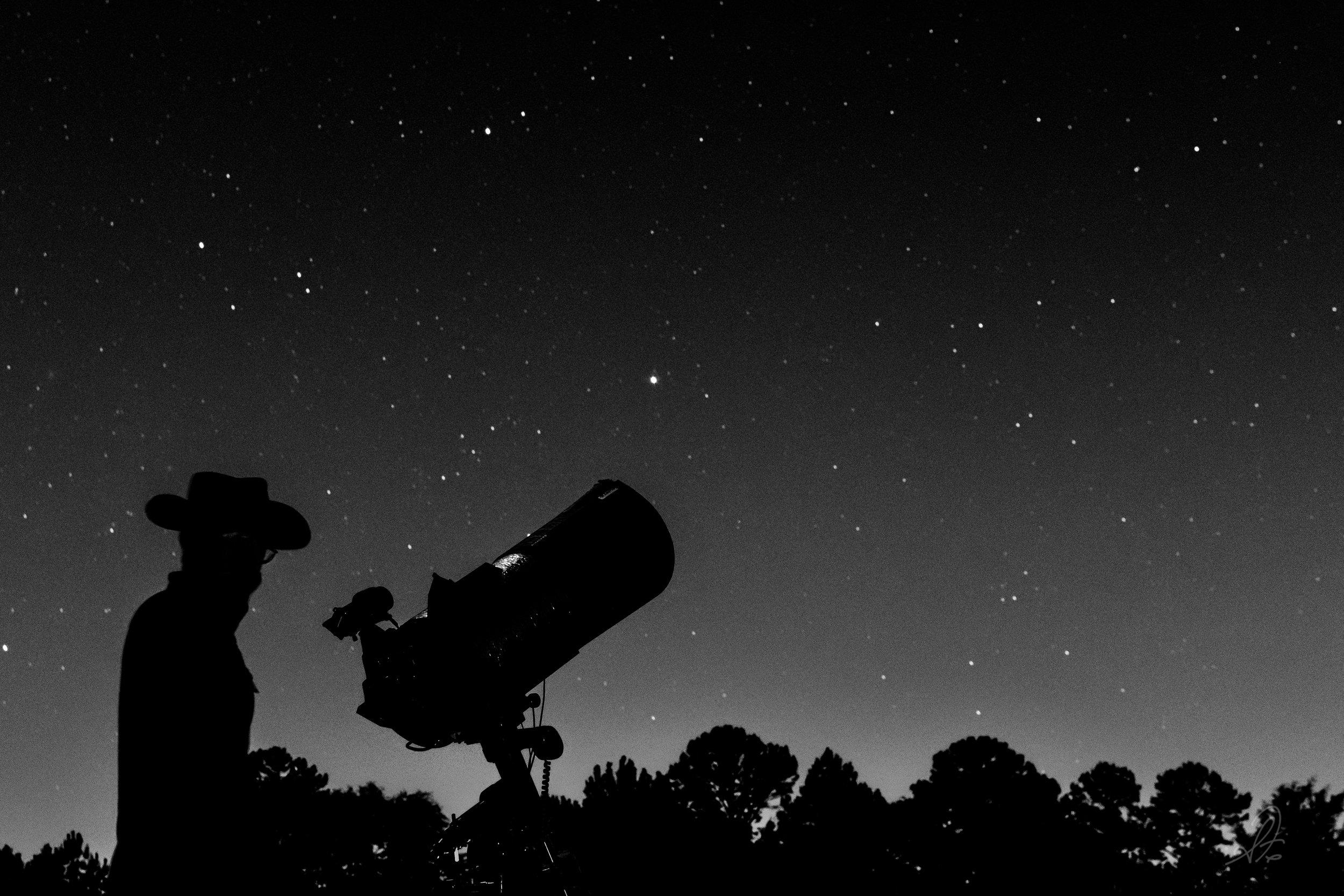 Telescope Setup at Twilight
