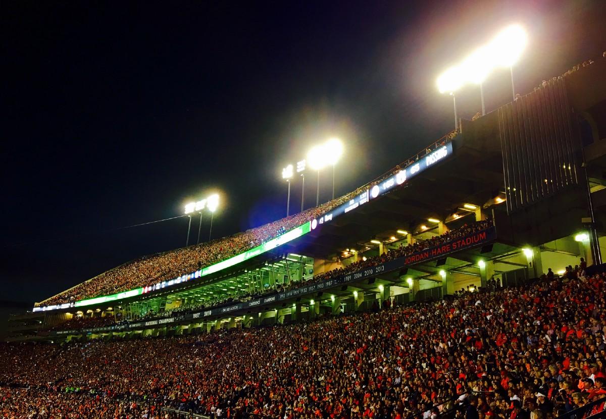Jordan-Hare Stadium at Night