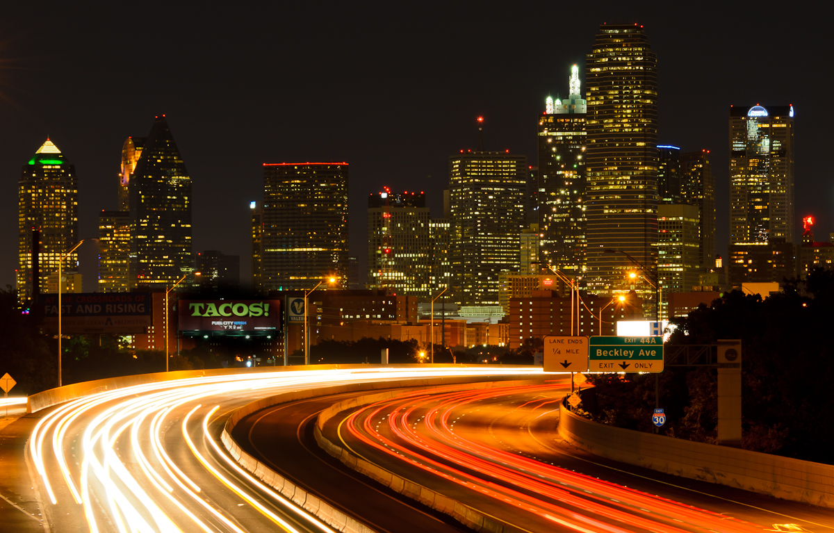 The Dallas Skyline at Night