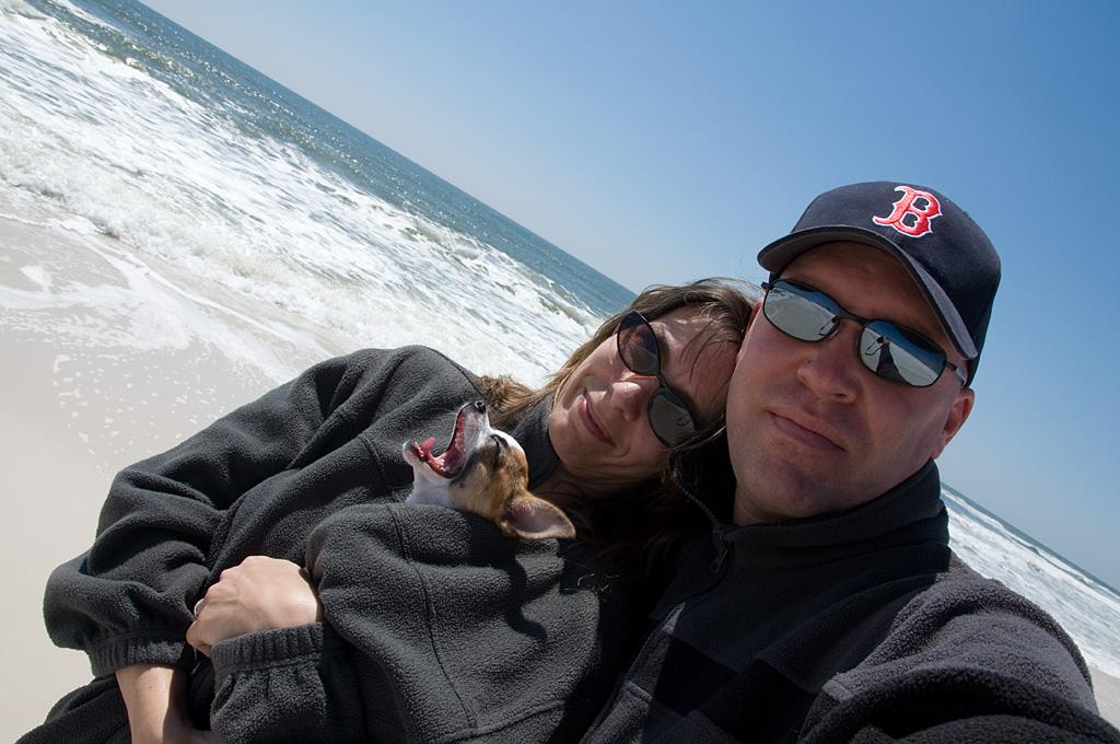 The Fillmer Family in 2009: Scott, Deborah, and Ebby